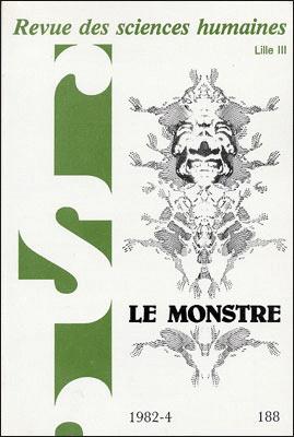 Revue des sciences humaines n 188 octobre d cembre 1982 for Revue sciences humaines