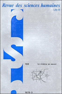 Revue des sciences humaines n 159 juillet septembre for Revue sciences humaines