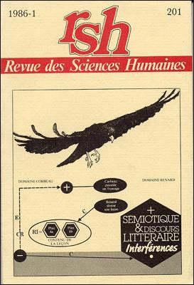 Revue des sciences humaines n 201 janvier mars 1986 for Revue sciences humaines