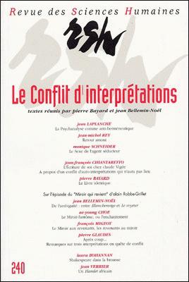 Revue des sciences humaines n 240 octobre d cembre 1995 for Revue sciences humaines