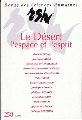 Revue des sciences humaines n 258 avril juin 2000 le for Revue sciences humaines