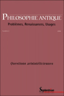 Philosophie Antique n°2 - Questions aristotéliciennes