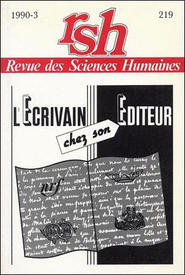 Revue des sciences humaines n 219 juillet septembre for Revue sciences humaines