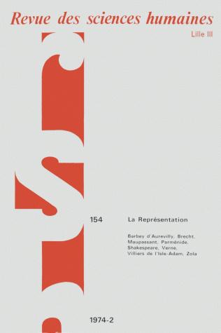 Revue des sciences humaines n 154 avril juin 1974 la for Revue sciences humaines
