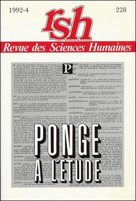 Revue des sciences humaines n 228 octobre d cembre 1992 for Revue sciences humaines