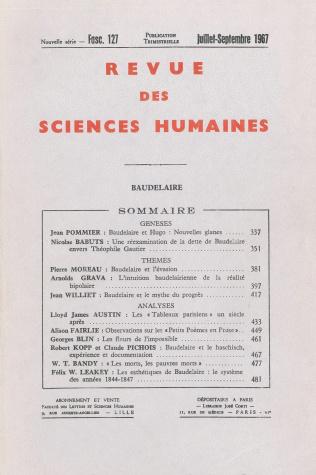 Revue des sciences humaines n 127 juillet septembre 1967 for Revue sciences humaines