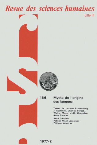 Revue des sciences humaines n 166 avril juin 1977 le for Revue sciences humaines