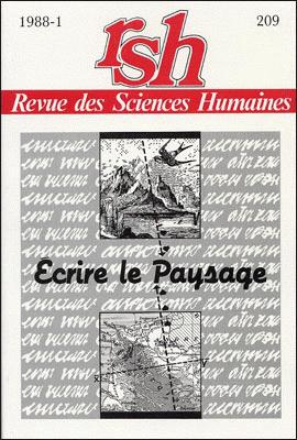 Revue des sciences humaines n 209 janvier mars 1988 for Revue sciences humaines