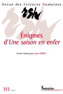 Revue des Sciences Humaines, n°313/janvier - mars 2014