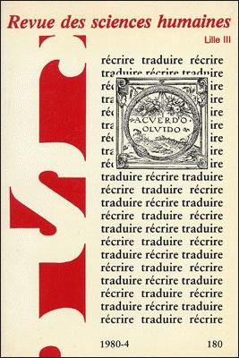 Revue des sciences humaines n 180 octobre d cembre 1980 for Revue sciences humaines