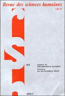 Revue des sciences humaines n 153 janvier mars 1974 for Revue sciences humaines