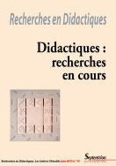 Recherches en Didactiques, n°19/juin 2015