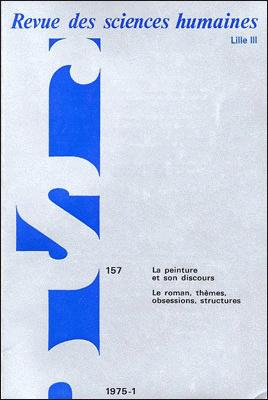 Revue des sciences humaines n 157 janvier mars 1975 la for Revue sciences humaines